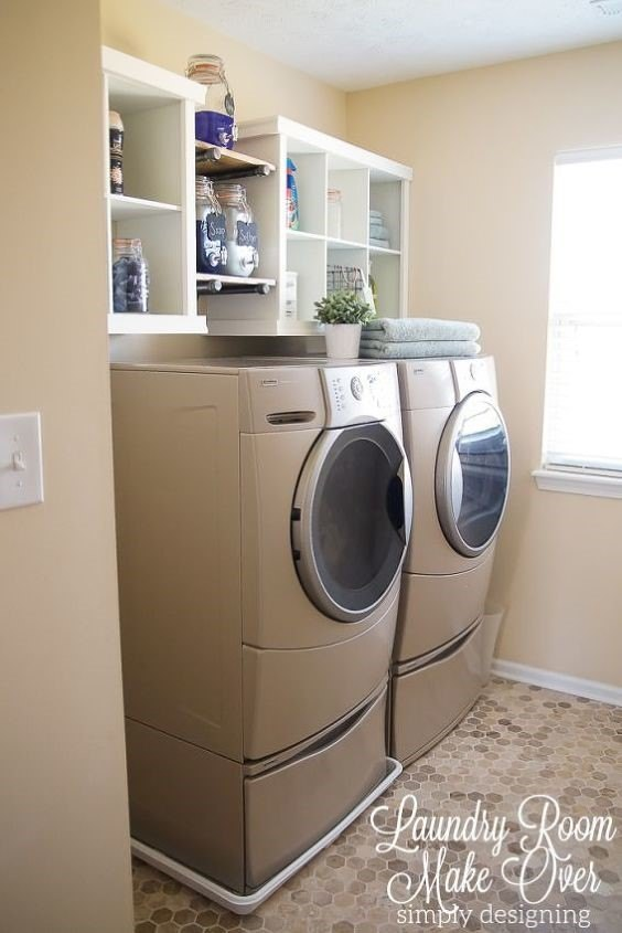 Laundry Room Shelving Ideas (SimplyDesigning)