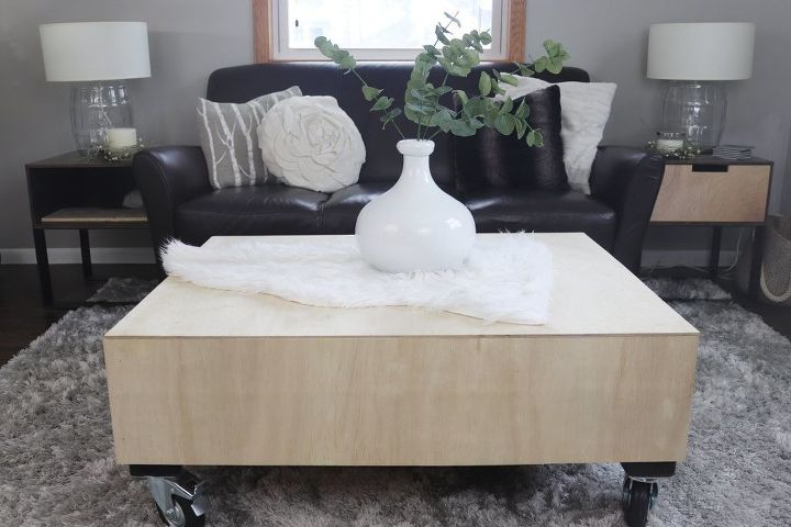 modern coffee table from pallet wood base