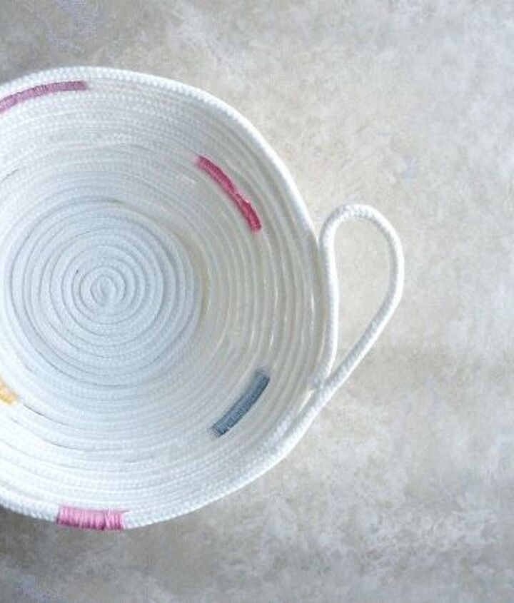 how to make a no sew rope bowl