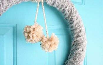 Cozy Thrifted Sweater Wreath
