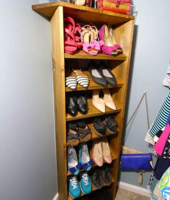 custom wooden shoe handbag storage