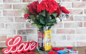 Chocolate Bar Gift Vase For Valentine's Day