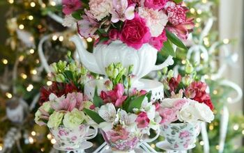 Create a Blooming Valentine's Tea Party Centerpiece