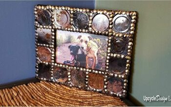 Upcycled Tin Can Picture Frame