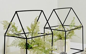 Easy and Inexpensive House Shape Terrariums Using What?!?!