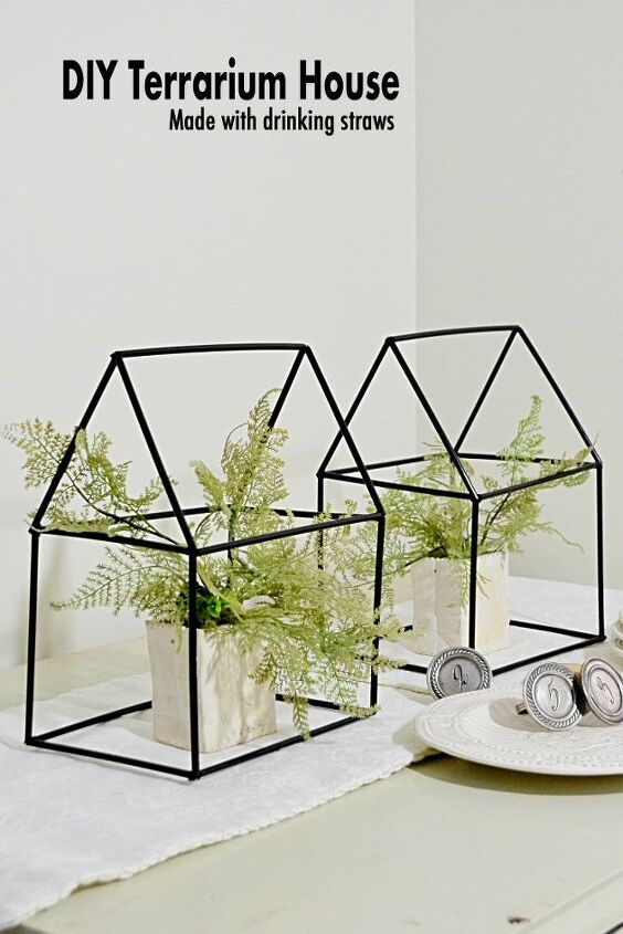 easy and inexpensive house shape terrariums using what