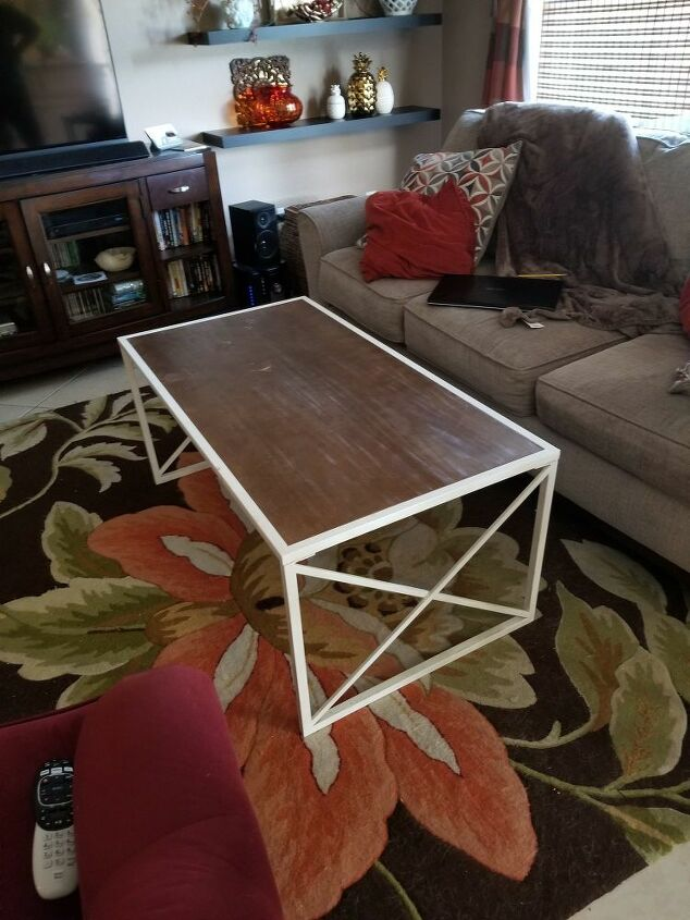 ordinary coffee table to glam coffee table