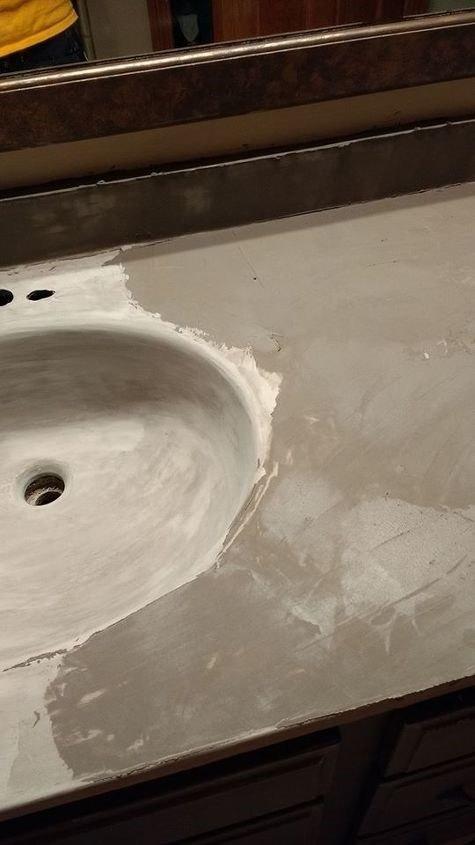 DIY Concrete Countertop Mix (Elizabeth @ Creating Rustic Charm)