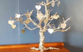 Valentine Heart Tree DIY - Upcycled Pie Tins