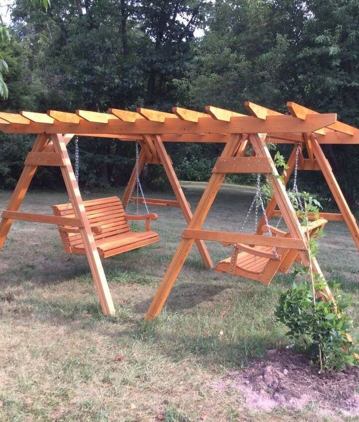 DIY Pergola with a Swing (Dixonscarol)