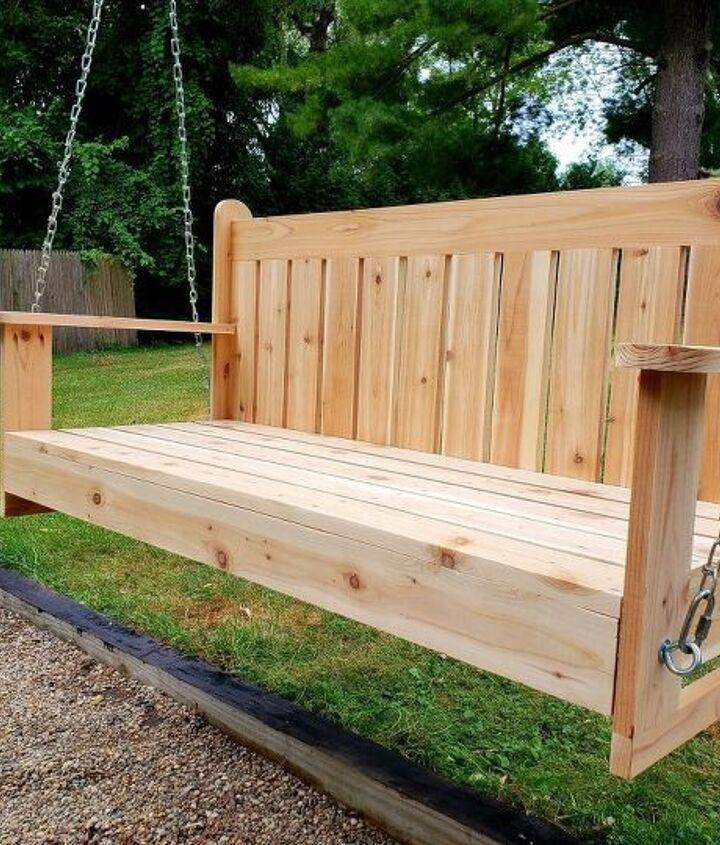 DIY Outdoor Pergola Swing (Kelly-n-Tony)