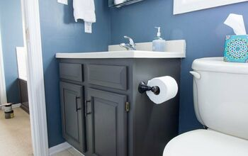 How To Completely Change Bathroom Cabinets With Just Paint