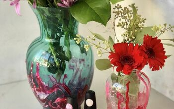 Re-furbished Vases for Valentines Day Bouquets