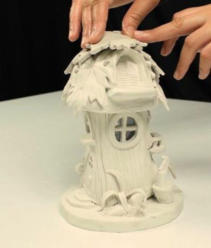 diy fairy house lamp using jar