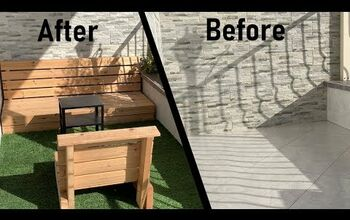 DIY Patio and Garden Bench and Chair