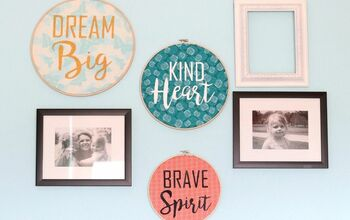 How to Make Stenciled Fabric Hoop Art