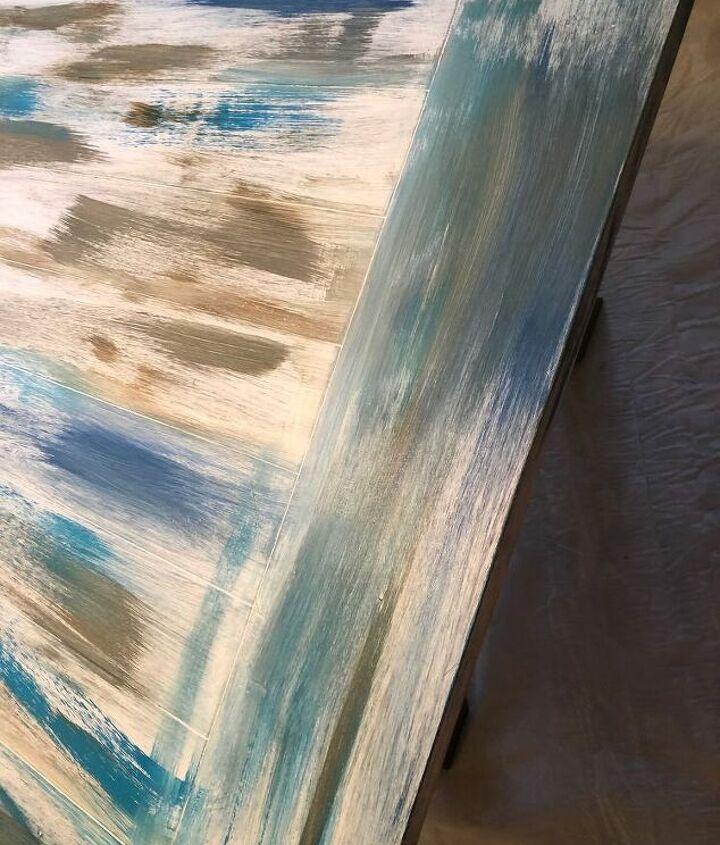 damaged table goes coastal