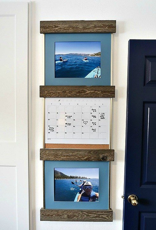 easy rustic farmhouse diy slide in picture ledge