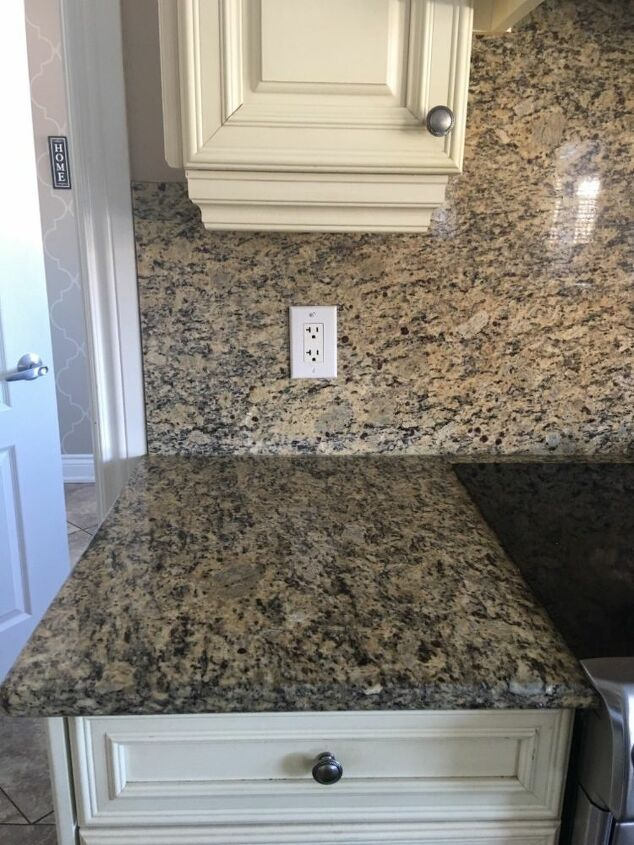 How Do I Cover Outdated Granite Countertops Amp Backsplash
