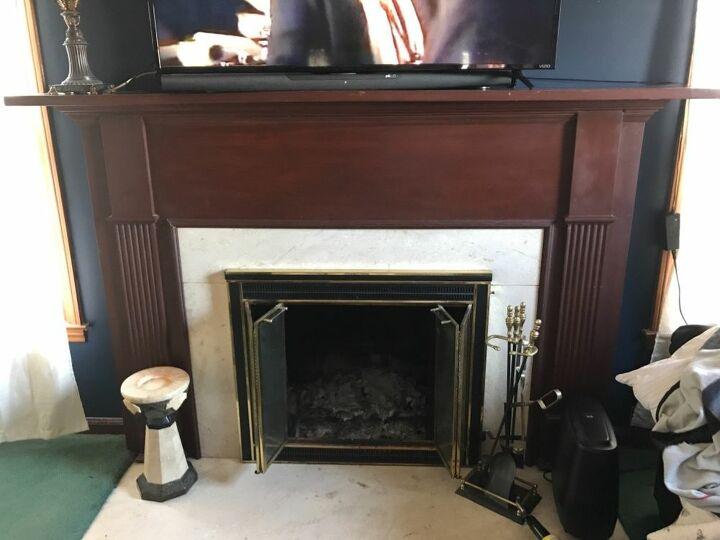 q how should i redo my fireplace
