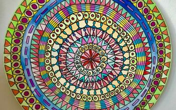 Colourful Doodle Wall Mandala