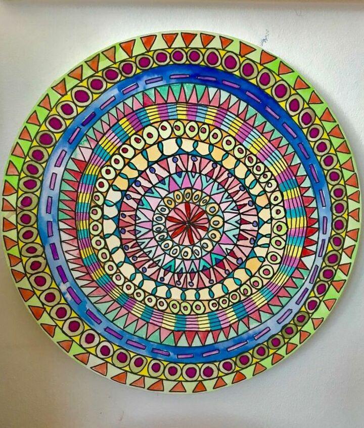Mandala wall art with Arteza brush pens