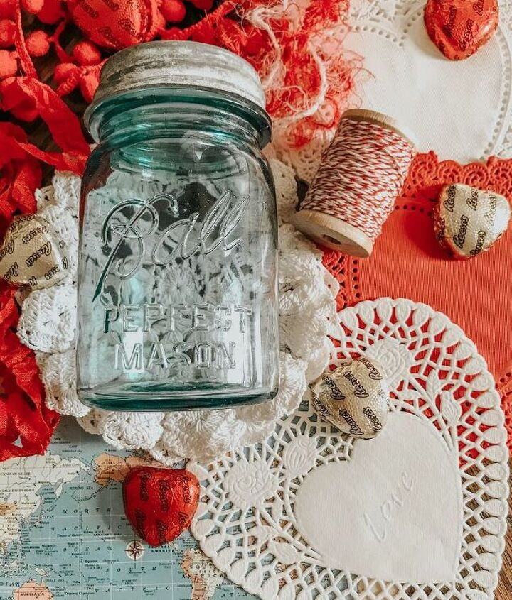 valentine gift jar that can be used as decor