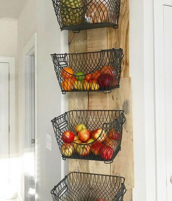 diy wall mounted fruit veggies holder