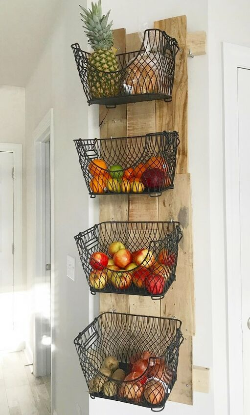 diy wall mounted fruit veggies holder