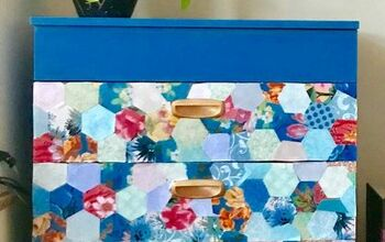 Pretty Patchwork Chest of Drawers Make-over