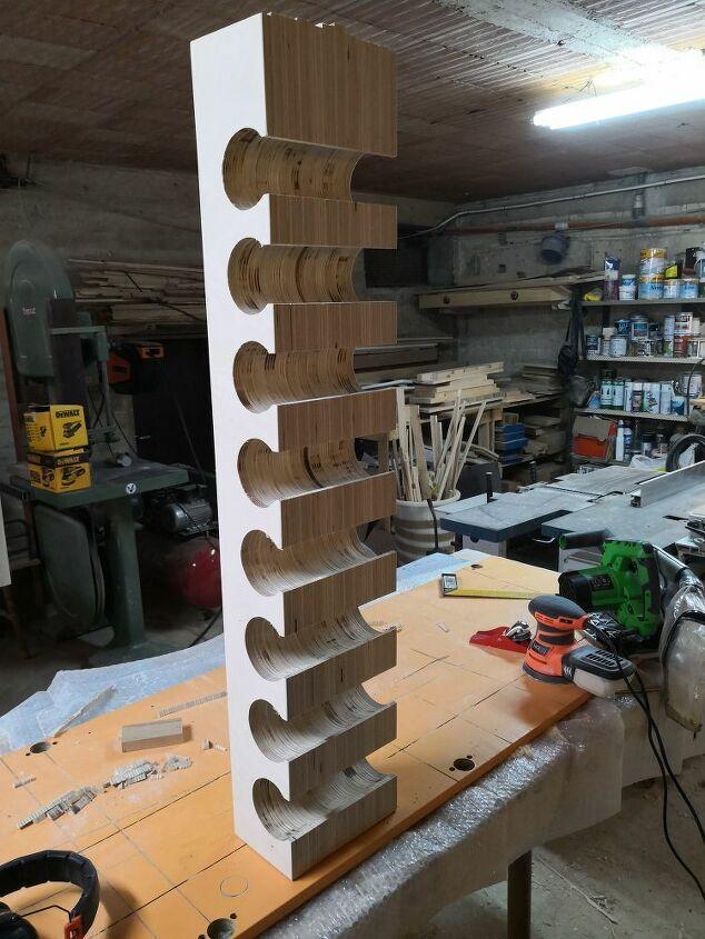 wine rack wall hang