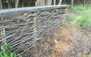 Turning Dreaded Buckthorn Into an English Wattle Fence