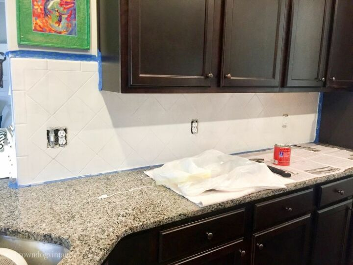 how to update your tile with paint