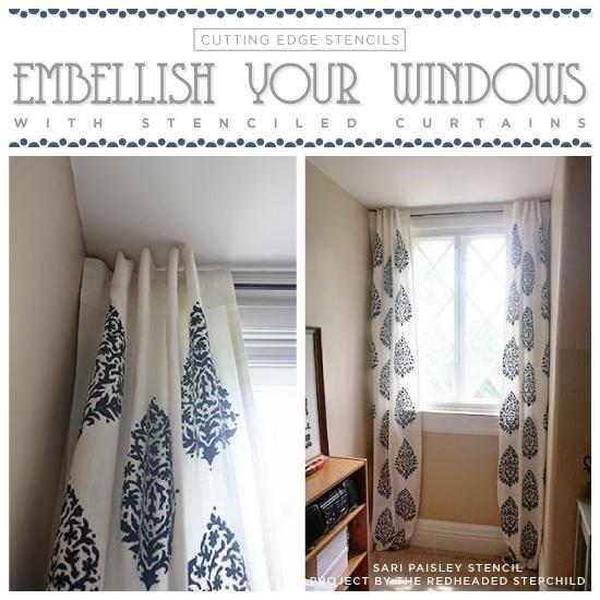 Curtains and Window Treatments (Cutting Edge Stencils)