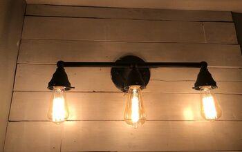 How To Update Your Old Bathroom Light Fixture Diy Hometalk