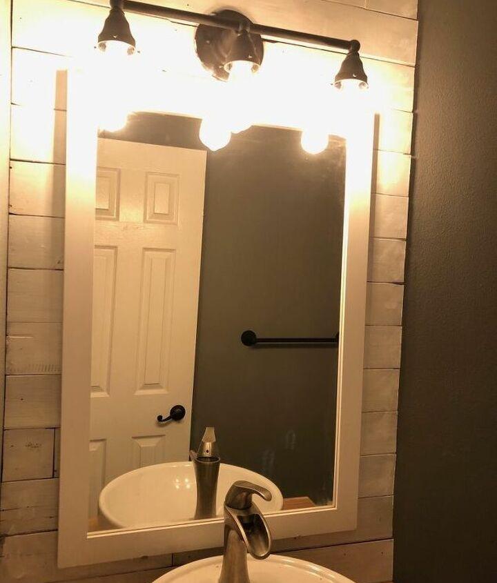updating your old bathroom light fixture to industrial light fixture