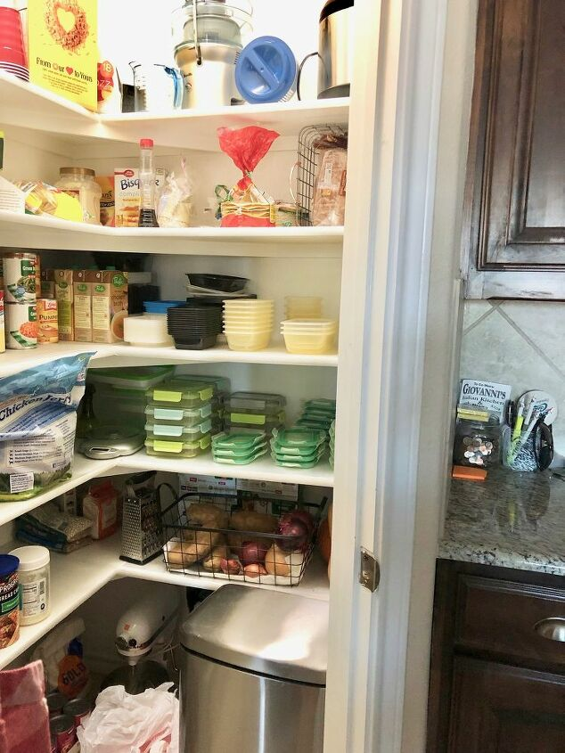 simple pantry makeover, BEFORE