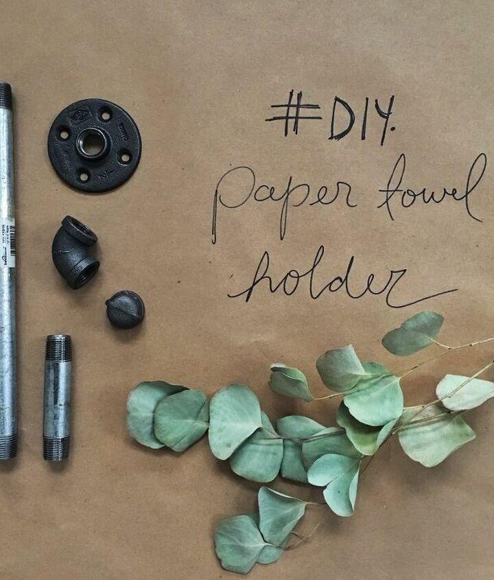 easy diy industrial pipe paper towel holder