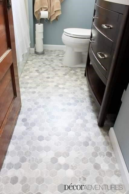 Bathroom Floor Ideas (Jessica @ Decor Adventures)