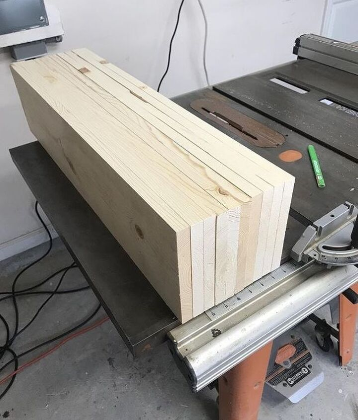 chevron style king size bed build