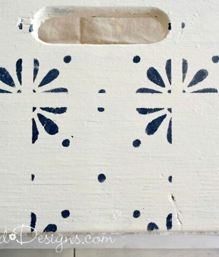 transforming vintage benches with scandinavian inspired stencils