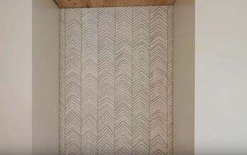 DIY Hand-Stamped Herringbone Accent Wall