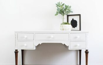 Get the Wood Leg Look on Painted Thrift Furniture Finds