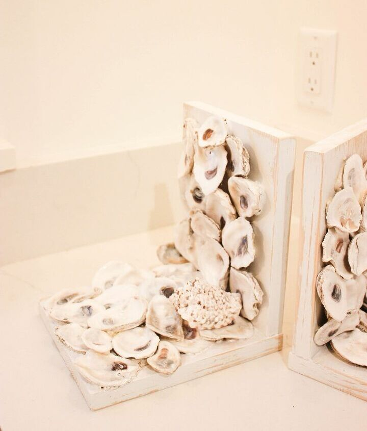 how to make oyster shell bookends