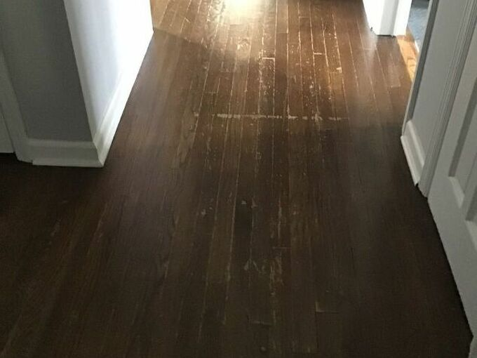 q how to paint old wood floors without using a primer