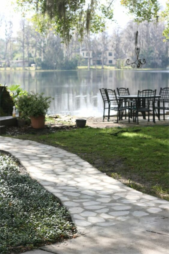 how to diy a flagstone path in your garden