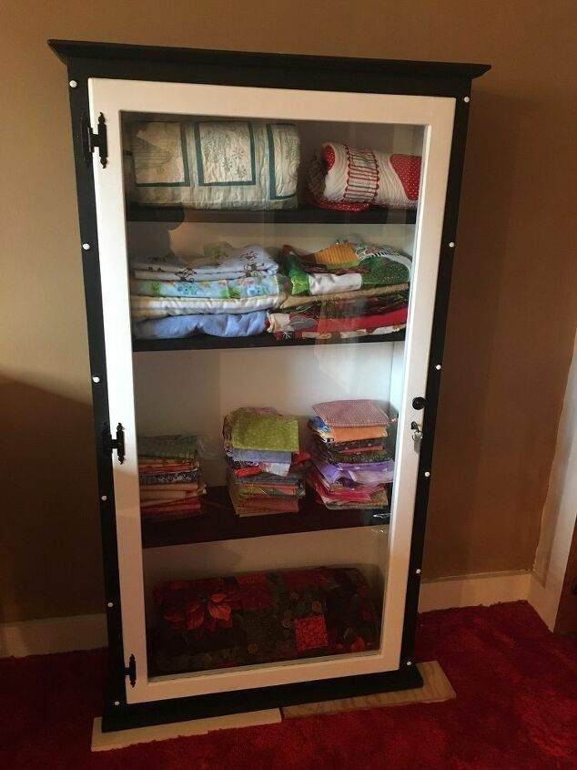 from gun cabinet to material cabinet