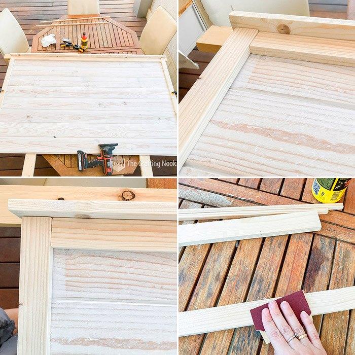 diy rustic wooden headboard