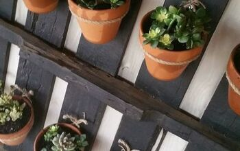 Turn a Pallet Into a Plant Hanger