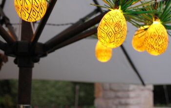 Pineapple String Lights From Plastic Easter Eggs